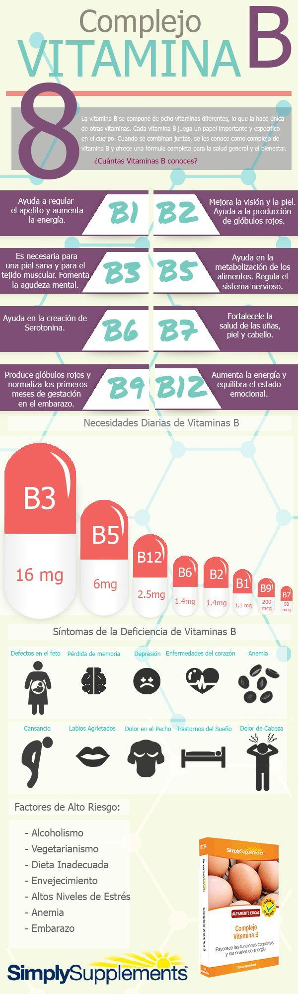 infografia beneficios vitamina b