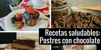 Postres saludables con chocolate